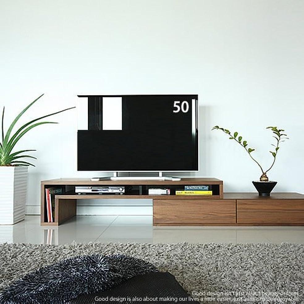 スロット在庫順応性のあるGENERAL SHAPE(ジェネラル シェイプ) テレビ台 伸縮 伸長 コーナー 大型 国産 テレビボード ローボード ウォールナット 日本製 40 50 60 インチ対応 完成品 [GS-155TV Board/WN]