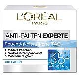 L'Oréal Paris Feuchtigkeitspflege für das Gesicht, Pflegende Anti-Aging Creme mit Kollagen Biosphären, Mildert Fältchen und spendet 24H Feuchtigkeit, Anti-Falten Experte 35+, 1 x 50ml