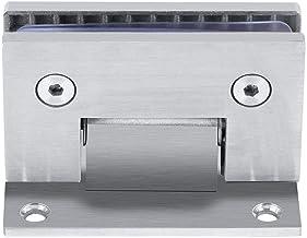 Fdit Glasdörrklämma gångjärn 90o väggmontering utan ramklämma för dusch dörrglas 8-10 mm med skruvtillbehör