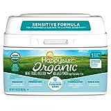 Happy Family Baby Organic Stage 1 Infant Formula Sensitive, 21 Ounce Organic Formula Dual Prebiotics, Milk Based Powder, Non-GMO (Packaging May Vary)