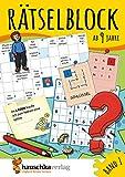 Rätselblock ab 9 Jahre, Band 1, A5-Block: Kunterbunter Rätselspaß: Labyrinthe, Fehler finden,...