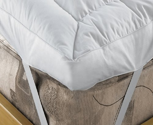 EXTRA DEEP 4' (10 cm) Duck Feather and 15% Down Mattress Topper By Viceroybedding (Small Double (4 Foot))
