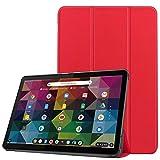 Gylint Schutzhülle für Lenovo Chromebook Duet 2-in-1 Tablet 10.1, faltbar, ultradünn, PU-Leder, mit Standfunktion, automatische Wake- & Sleep-Funktion, für Lenovo Chromebook Duet 10.1, Rot