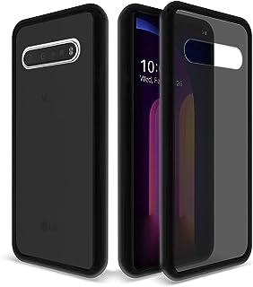 GOBUKEE LG V60 ThinQ Case Anti-Drop Shock Absorption Translucent Matte Hard PC Back and TPU Bumper Case for LG V60 ThinQ/L...