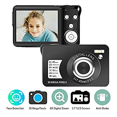 Digital Camera 2.7 Inch HD Camera Rechargeable Mini Camera Students Camera Pocket Camera Digital with 8X Zoom Compact Camera for Photography