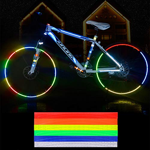 STL 反射シール 自転車 高輝度 48点 ホイール 反射テープ バイク・車・ランドセルにも 通勤 通学 安全 リフレクター 防犯グッズ 防災グッズ 夜道 夜行