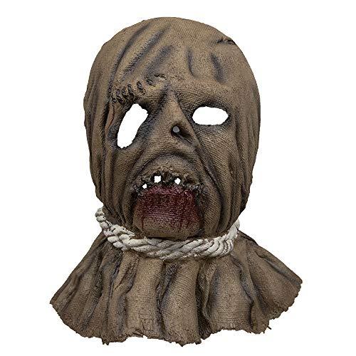 Mirocle Life Halloween Horror Vogelscheuche Vollkopfmaske aus Latex Lustig Cosplay Kostüm Maske für Karneval, Motto- Grusel Party