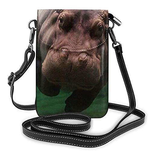 Moda pequeño teléfono celular bandolera bandolera buceo hipopótamo teléfono celular monedero billetera ligero bolsillos espaciosos bolso para teléfono inteligente para mujeres niñas adolescentes