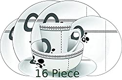 CAMPING-ONLINE LTD - Camping Melanine Dinner Set 16pc Abstract - 100% Melamine Attractive dining set for camping, caravanning, picnics, parties and more 100% melamine and is dishwasher safe (25cm) dinner plates, (20cm) side plates. (15cm) bowls. Four...