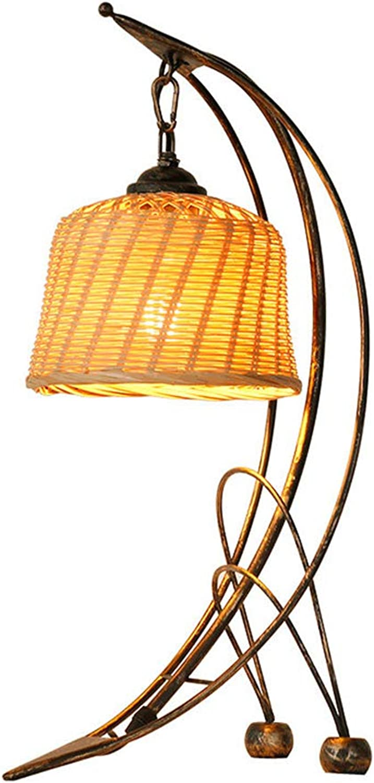 NACHTTISCHLAMPEN lixin Eisen Tischlampe Schlafzimmer Schlafsaal Tischlampe (Farbe   Beige, gre   52  25  18cm)