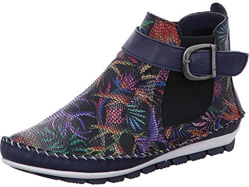 Gemini Damen Stiefeletten Leder Stiefel 382018-19, Größe:42 EU, Farbe:Blau