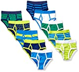 Amazon Essentials 10-Pack Underwear Brief, Sharks and Stripes, S