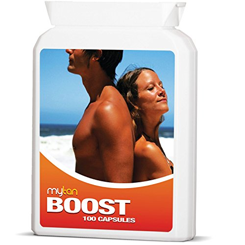 MyTan Boost Sun Tanning Tablets, 100 Tablets, All Natural Tan Pills, 100% Guaranteed, Tanning Accelerator