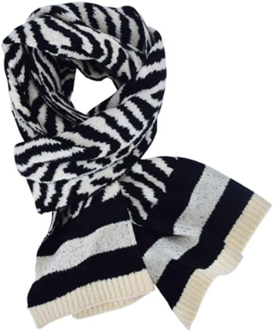 ZANZAN Cold Weather Scarves Mens Winter Scarf Soft Lightweight Warm Knitting Wool Feel Scarves Unisex Fashion Scarf for Family Decorative Scarf