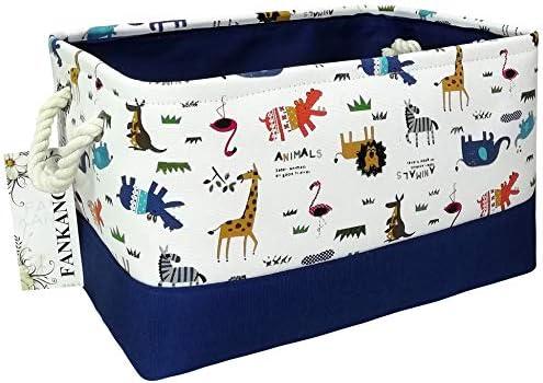FANKANG Rectangular Fabric Storage Bin Box Laundry Basket with Dinosaur Prints for Nursery Storage product image
