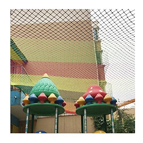OSHA HJWMM Red Seguridad Infantil, Material Nailon Malla Resistente, Balcón, Jardín Infancia Malla Escaleras Barandilla, Red Protectora Juguete Niños Valla (Color : Colorful, Size : 5mx5.5m)