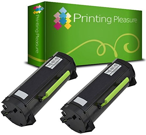 2 Compatible Toner Cartridges for Dell B2360D B2360DN B3460DN B3465DNF - Black, High Yield (2,500 Pages)