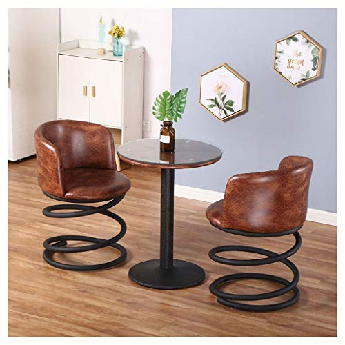 Chair Round Small Coffee Table Set Of 3 Casual Armchair Soft Seat Iron Dining High Back Balcony Cafe Bar Business Reception Metal Spring Stool Vintage 5 Colors KADJ