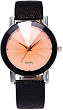 Cliramer Women Casual Watch with Leather Strap Analog Quartz Male Wristwatch for Gift