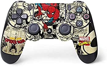Skinit Decal Gaming Skin for PS4 Controller - Officially Licensed Marvel/Disney Amazing Spider-Man Comic Design