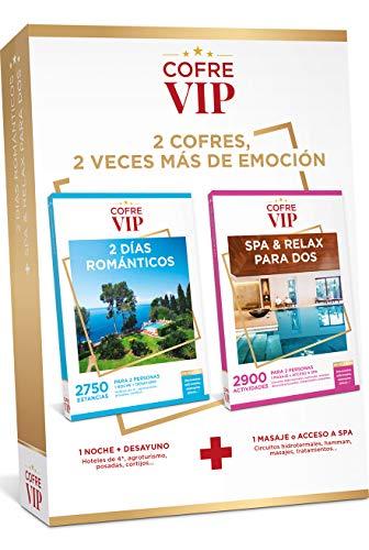 CofreVIP Caja Regalo 2 DÍAS ROMÁNTICOS + SPA & Relax para Dos para Dos Personas (2 Regalos en uno)