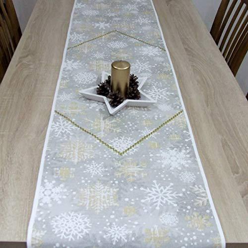 Wunderbare Tischläufer für Weihnachten, Goldene Schneeflocke, das Beste Geschenk für die schönste Küche von HomeAtelier, Weihnachtsdekoration, 130x40cm, 150x40cm, 170x40cm