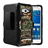 Untouchble Case for Samsung Galaxy Grand Prime Case | Samsung GO Prime Holster Case [Heavy Duty Clip]- Shockproof Swivel Holster Case with Built in Kickstand - Tree Camo Branch