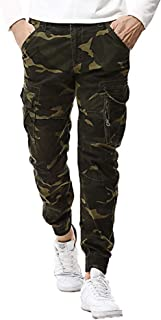 Men's Casual Cotton Multi-Pocket Outdoors Camouflage Trouser Cargo Long Pants