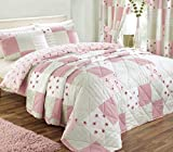 J Rosenthal und Son Ltd Dreams 'n' Drapes Patchwork Tagesdecke für King Size, rosa