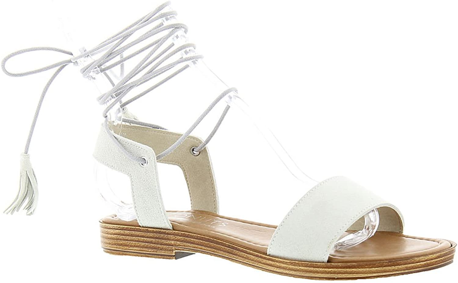 Matisse Womens Sting Suede Open Toe Casual Slide Sandals, Natural, Size 6.0