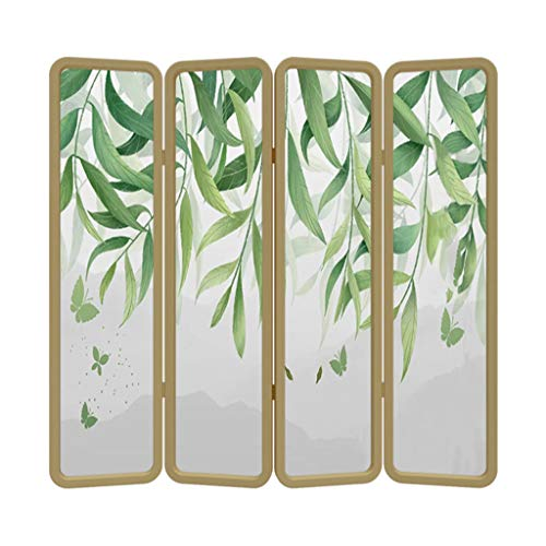 Great Deal! Even 4 Panel Wood Divider Screen,Traditional Classical Charm Mobile Folding Screen,Livin...