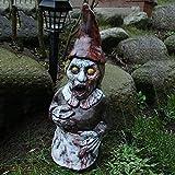 Halloween Zombie Gartenzwerg Deko Handgemalt Horror Zwerg Aus Harz, Gartendeko Figuren Gartenzwerg FüR Halloween Terrasse Hof Rasen Zombie GNOME Deko, Hohe 15cm (03)