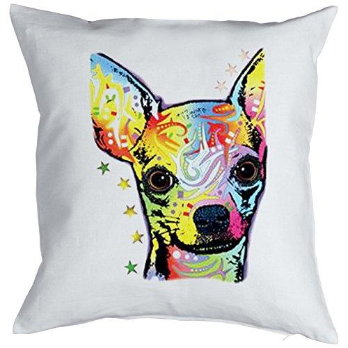 Chihuahua Pillow, oreiller, almohada, Cuscino Pop Art Style