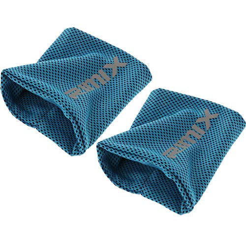 2 Satz Kühlarmband Schweißband Handgelenk Sport Manschetten, Elastisch, Athletisch, geeignet für Sport, Fitness, Reise, Yoga