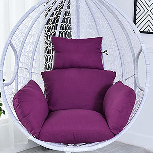 Larew Swing Seat Cushion Soft Hanging Chair Pad Swing Chair Cushion Purple for Indoor Outdoor Bedroom Patio Garden 66 x 112 cm