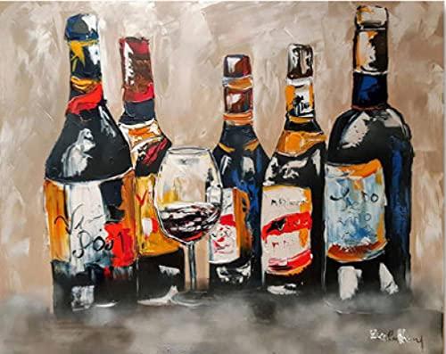 Arte abstracto moderno graffiti copa de vino pintura en lienzo carteles de acuarela e imagen de impresión de pared para decoración de sala de estar-40x60CM sin marco