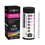 150 Ketone Test Strips Included with Free Keto Guide eBook & APP Ketosis Urine Test for Ketogenic and Low-Carb Diets KETO-MOJO (Extra-Long Strips, Made in the USA)