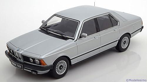 BMW 733i (E23), silber, 1977, Modellauto, Fertigmodell, KK-Scale 1 18