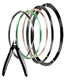 MoHern Bonsai Wire and Bonsai Tool Kit, Total 164 Feet Bonsai Tree Wire for Bonzai Trees Indoor, Size of 1-mm, 1.5-mm, 2-mm Aluminum Wire