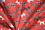 Pyrhan Scottie Dog Printed Dress Fabric Polycotton Prints –45 Inch Wide Dress Fabric Material by The Metre Polycotton Print Used in Sewing Kit and Accessories-Quilting Fabric (Red)