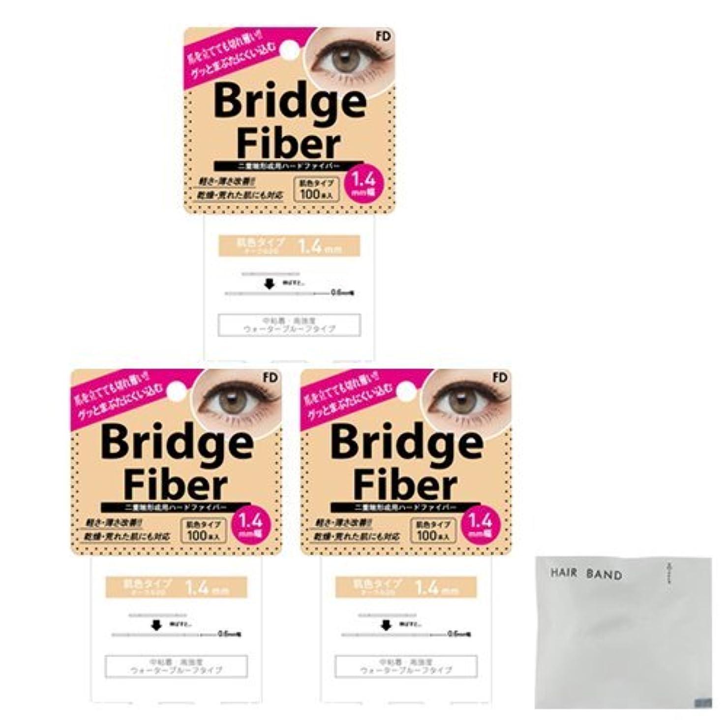 演劇指令リアルFD ブリッジファイバーⅡ (Bridge Fiber) ヌーディ1.4mm×3個 + ヘアゴム(カラーはおまかせ)セット