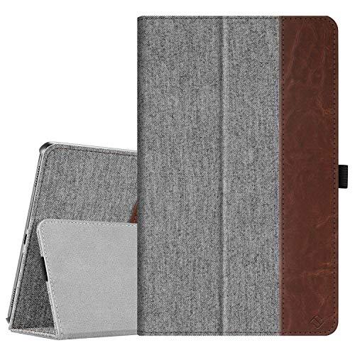 Fintie Hülle für Samsung Galaxy Tab A 10,1 T510/T515 2019 - Premium Stoff Folio Schutzhülle mit Standfunktion & Stylus-Halterung für Samsung Galaxy Tab A 10.1 Zoll 2019 Tablet, Denim grau