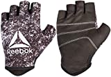 Reebok Men's and Women's Featherlight Weight Lifting Workout Gloves with Natural Suede Grip (Black/Red, Large)
