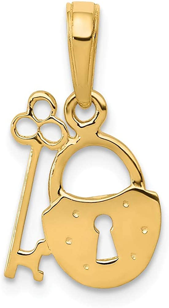 Limited time sale 14K Padlock And Pendant Key Special price for a limited time