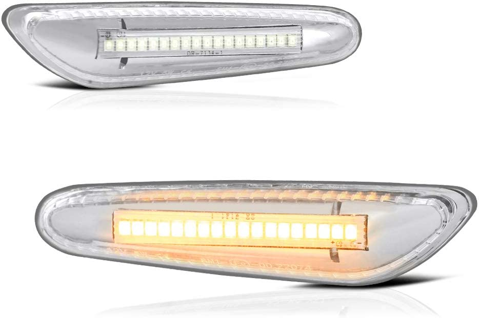 VIPMOTOZ Chrome Full LED Strip Side Max 50% OFF Tu Front Marker Light Sale item Fender