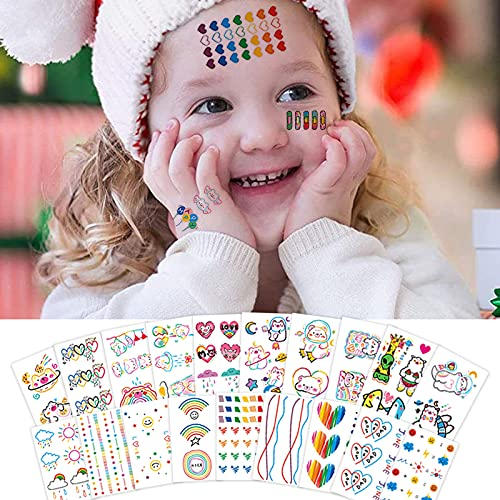 60pcs tatuaggi per bambini, tatuaggi temporanei per bambini con trucco,Tatuaggi temporanei per bambini,adesivi per tatuaggi animali tatuaggi finti regali di compleanno per bambini,ragazzi e ragazze