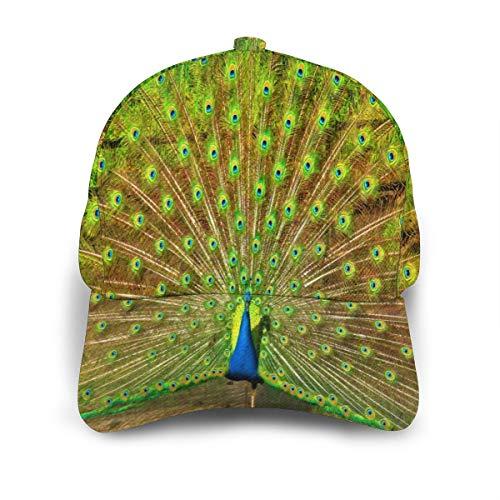 Ernest Congreve Baseball Cap Beautiful Peacock Plumage Ablaze Snapback Hats Adjustable Cap for Women Men Summer