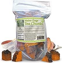 Maine USA Chaga Mushroom Premium Tea Chunks, 4oz, Wild Harvested, 34-50 Servings