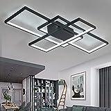 Plafonnier LED de salon à intensité variable 3000K-6500K en acrylique - Couleur de la lumière/luminosité réglable