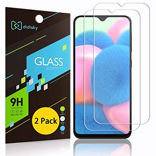Didisky Pellicola Protettiva in Vetro Temperato per Samsung Galaxy A30s / A40s, [2 Pezzi] Protezione Schermo [Tocco Morbido ] [Facile da Pulire] [Facile da installare] Trasparente